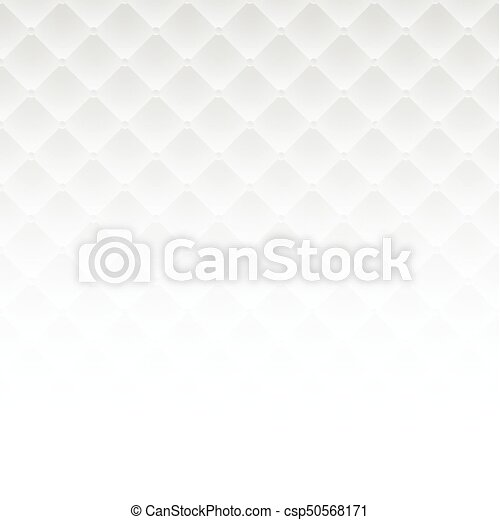 White Square Luxury Pattern Sofa Texture Background Vector