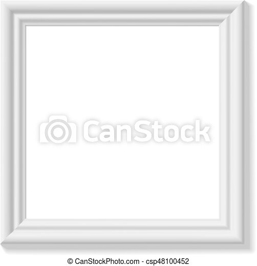 White square picture frame. minimalistic detailed photo... clipart ...
