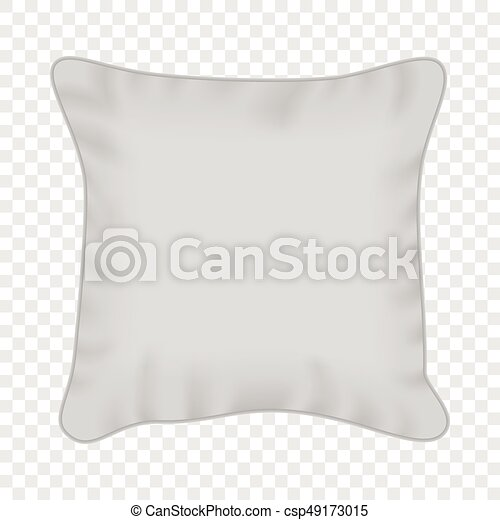 square pillow line drawing. vector - white square pillow mockup, realistic style line drawing