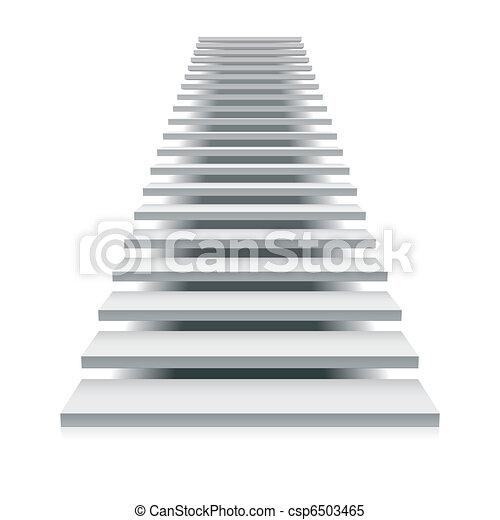 White staircase - csp6503465