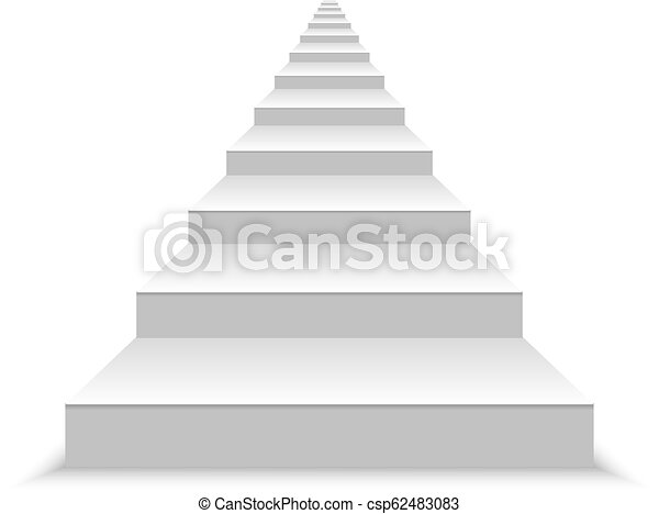 white stairs template for your design realistic blank white