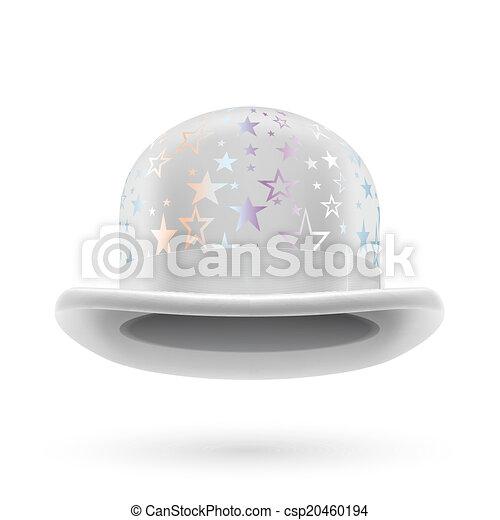 White starred bowler hat - csp20460194
