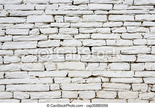 White stone wall - csp35880056