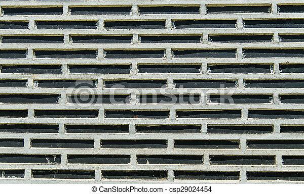 White strip block on Black wall - csp29024454
