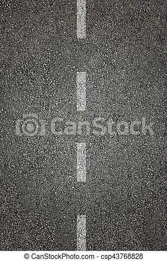 White stripes on asphalt - csp43768828