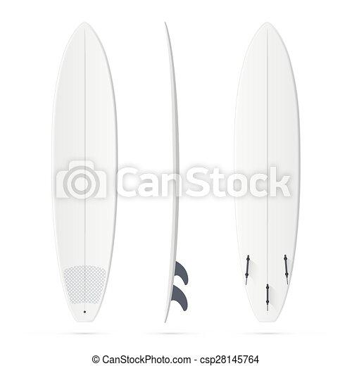 White surfing board template - mini-malibu surfboard. White... clip ...