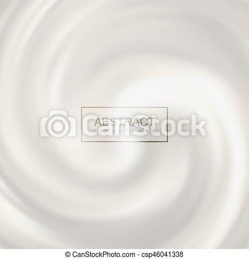 White swirling milk whirlpool. - csp46041338