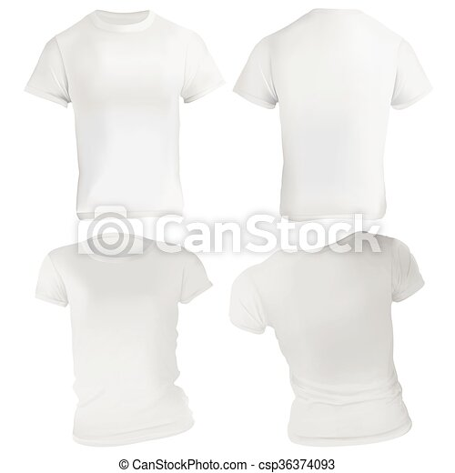 White Tshirt Design Template Vector Illustration Of Blank White T - T shirt artwork template