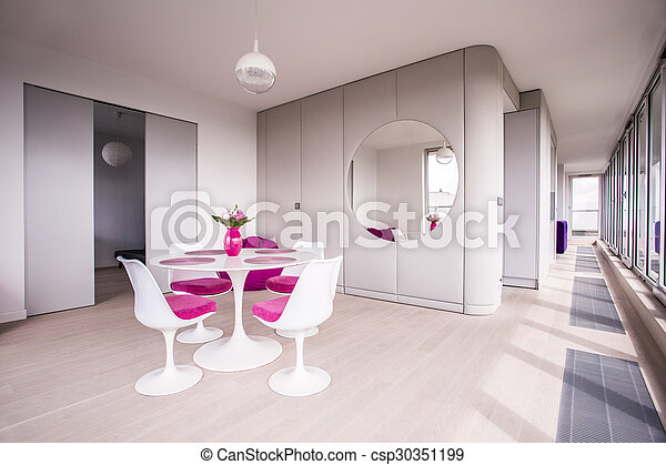 White table in dining room - csp30351199