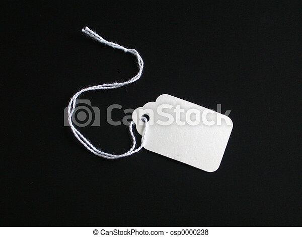 White tag on Black - csp0000238