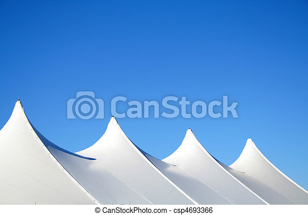 White Tent Tops - csp4693366