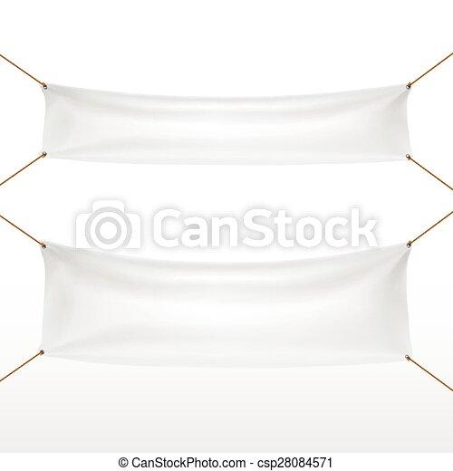 white textile banners set - csp28084571