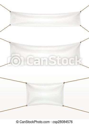white textile banners set - csp28084576