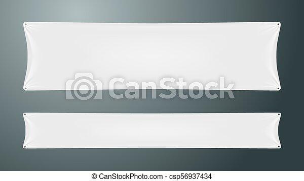 white textile cloth folded banner eps10 vector