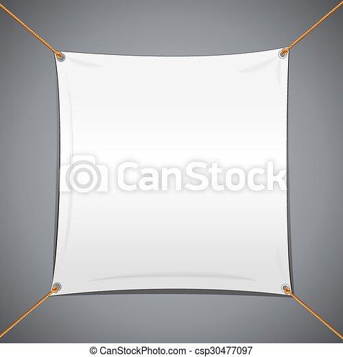 White Textile Vector Banner - csp30477097