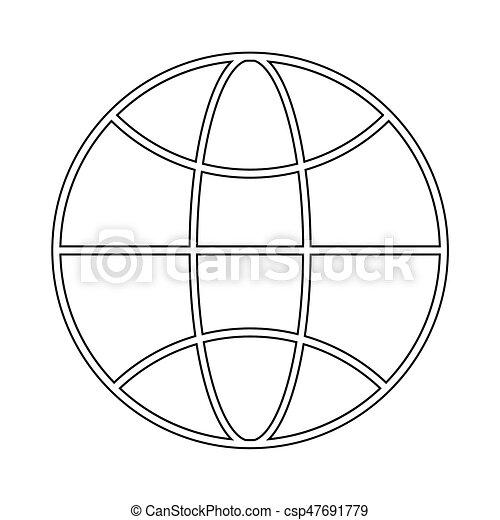 WHITE the black color icon . - csp47691779