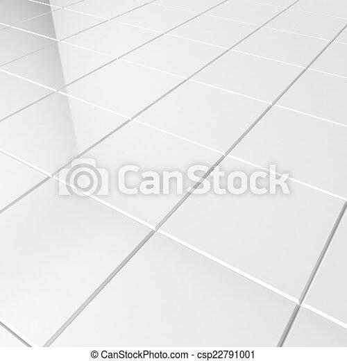 White Tiles 3d Background