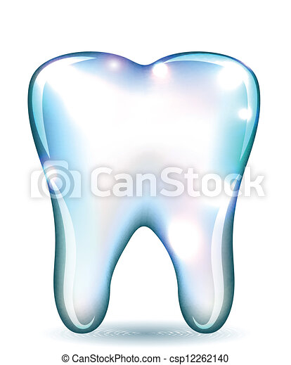 White tooth - csp12262140