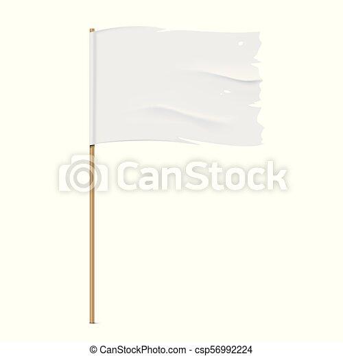 White torn vector flag template