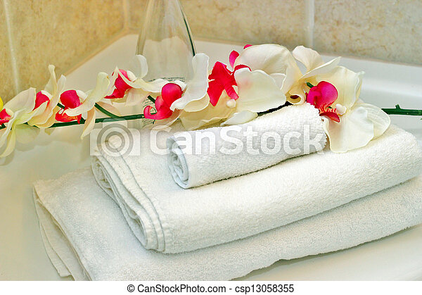 White towels - csp13058355