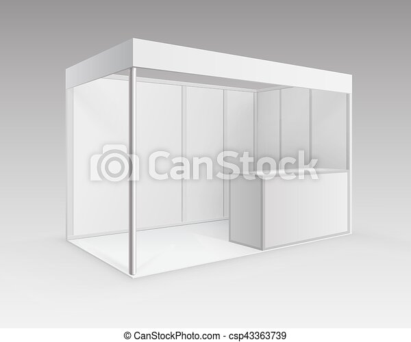 Trade Exhibition Stand Vector : White trade exhibition stand for presentation vector white blank