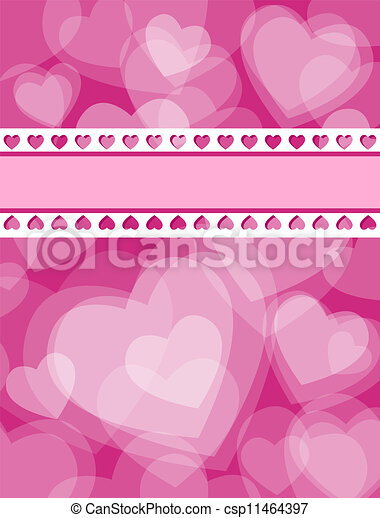 White Transparent Hearts Love Card Cute Valentines Day Or Love