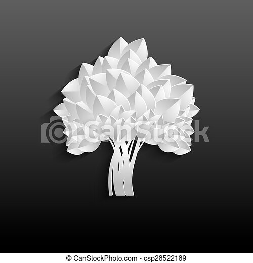 White tree - individual elements for easy changes - csp28522189