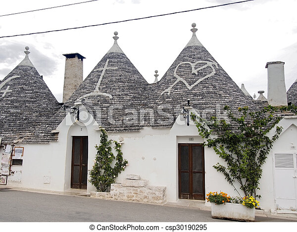 White Trulli Of Alberobello In Puglia White Trulli Of