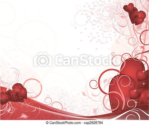 White valentines background - csp2928784