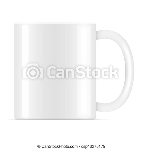 White vector coffee mug. White vector coffee mug template isolated ...