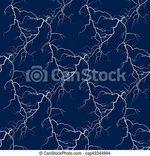 White Vector Lightning Seamless Background