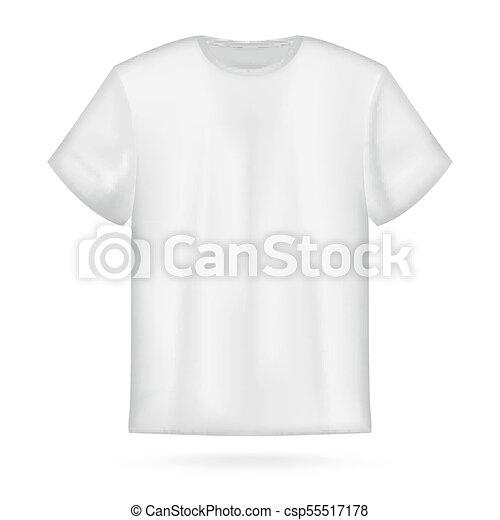 white vector men s t shirt mockup