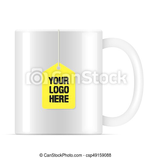 white vector tea cup with tea bag white vector teacup with yellow