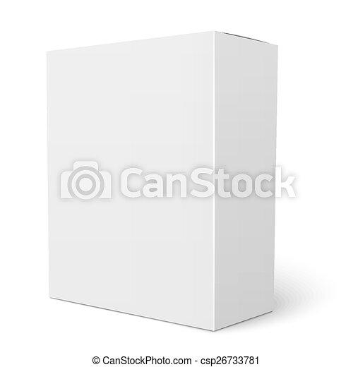 Paper Box Template | White Vertical Cardboard Box Template Blank Vertical Paper Box