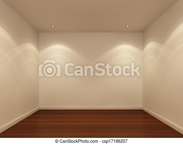 White Wall Empty Room At Night