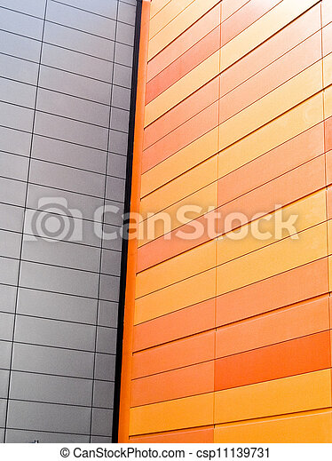 White wall with orange wall - csp11139731