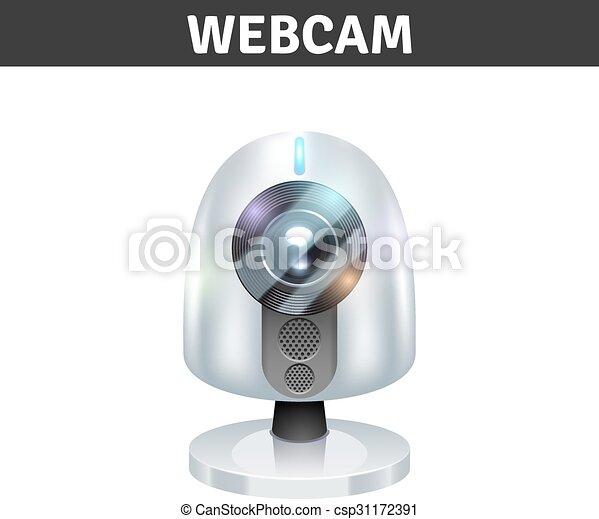White Webcam Illustration  - csp31172391