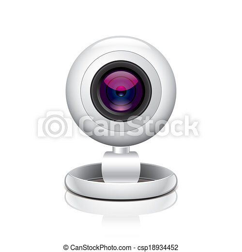 White webcam vector illustration - csp18934452