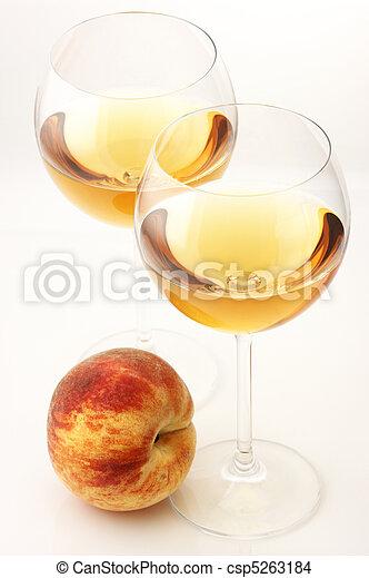 White wine and peach - csp5263184