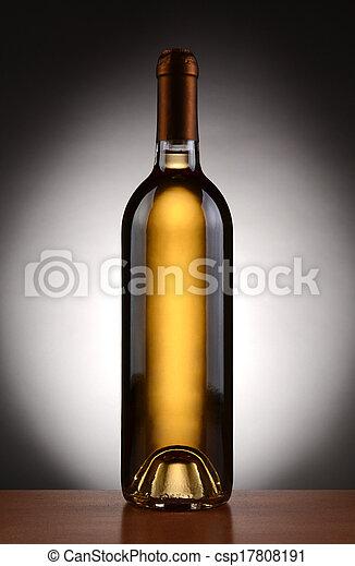 White Wine Bottle Backlit - csp17808191