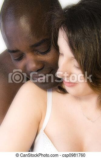 man white Black women kissing