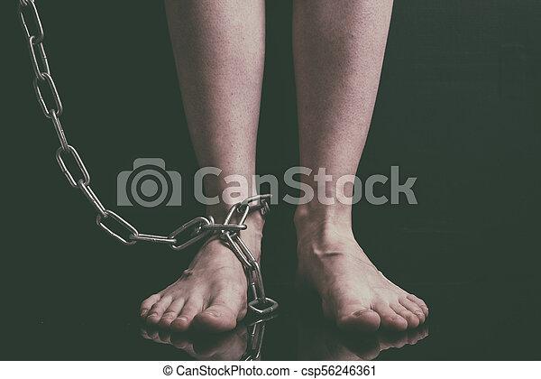 Womens feet close up