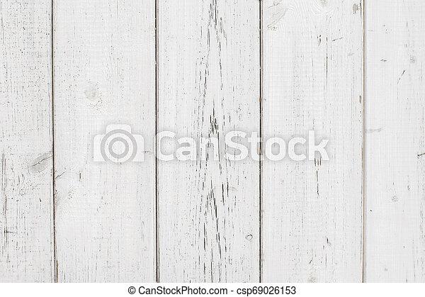 White Wood Texture Background - csp69026153