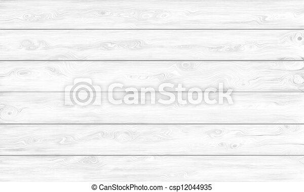 White Wooden Background - csp12044935