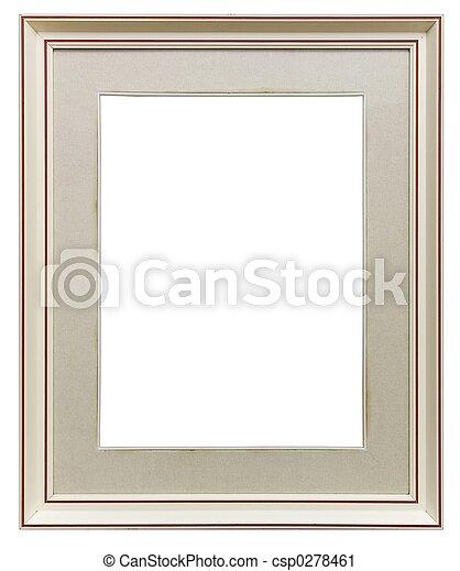 White wooden frame - csp0278461
