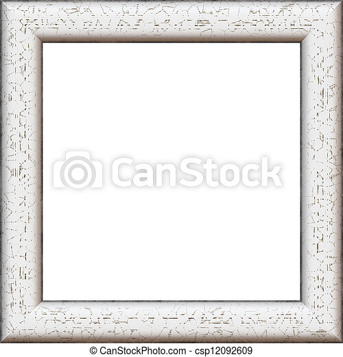 White wooden frame. Square high quality high resolution wooden frame ...