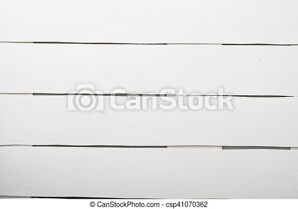 White wooden planks table - csp41070362