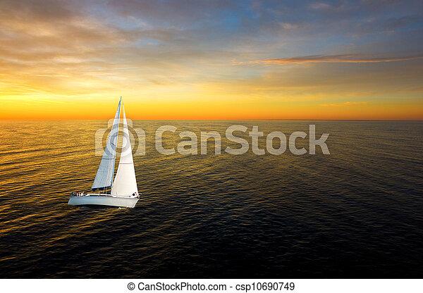 White yacht - csp10690749