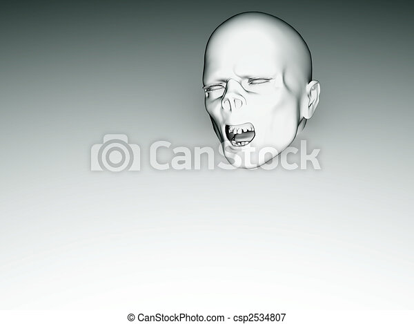 Zombie Face Line Drawing : White zombie face. face that is coming out of a