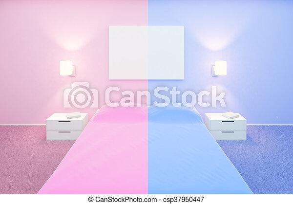Camera Letto Rosa : Whiteboard camera letto rosa blu su whiteboard lei lati